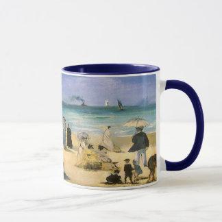 Beach at Boulogne by Manet, Vintage Impressionism Mug