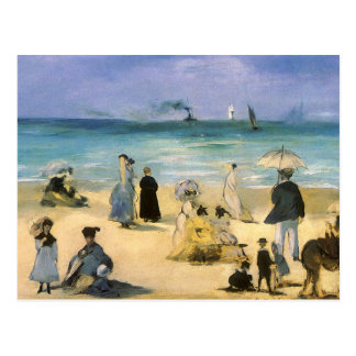 Beach at Boulogne by Manet, Vintage Impressionism Post Cards