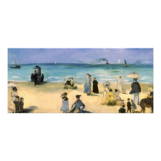 Beach at Boulogne by Manet, Vintage Impressionism Custom Rack Cards