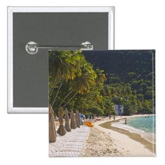 Beach at Cane Garden Bay, Island of Tortola Pinback Button