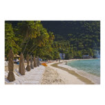 Beach at Cane Garden Bay, Island of Tortola Poster