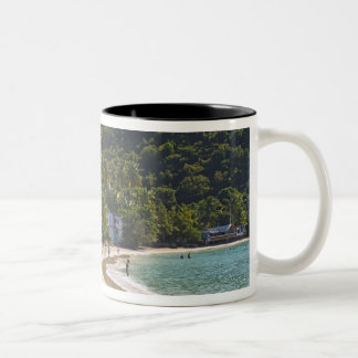 Beach at Cane Garden Bay, Island of Tortola Two-Tone Coffee Mug
