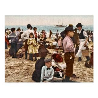 Beach At Coney Island, New York 1902 Vintage Postcard