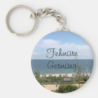 Beach at Fehmarn Germany Basic Round Button Keychain