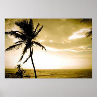 Beach at Goa Poster