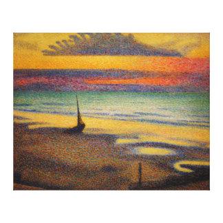 Beach at Heist by Georges Lemmen 1891 Canvas Print