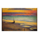 Beach at Heist by Georges Lemmen 1891 Custom Stationery