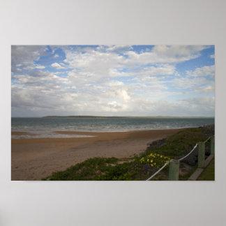 Beach at Hervey Bay Poster
