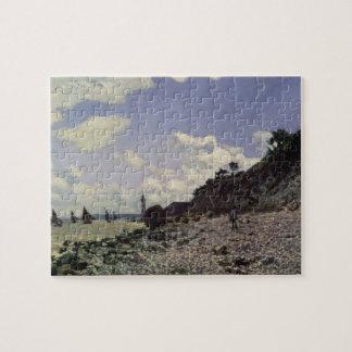 Beach at Honfleur, 1864 (oil on canvas) Jigsaw Puzzle
