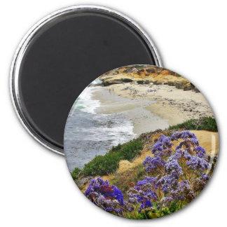 Beach At La Jolla Cove 2 Inch Round Magnet