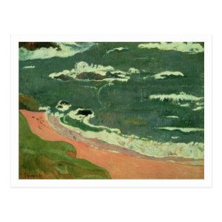 Beach at Le Pouldu, 1889 Postcard