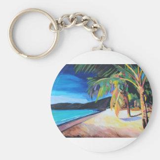 Beach at Magen's Bay St Thomas US Virgin Islands Keychain