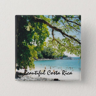 Beach at Manuel Antonio Pinback Button