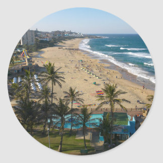 Beach At Margate, South Coast, Kwazulu-Natal 2 Classic Round Sticker