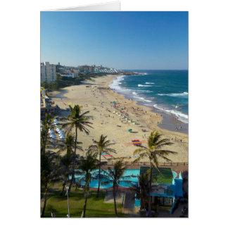 Beach At Margate, South Coast, Kwazulu-Natal Greeting Card