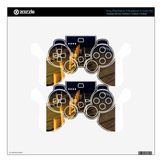 Beach at night PS3 controller skins