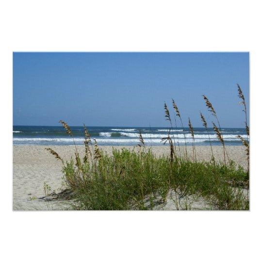 Beach at Ocracoke Poster