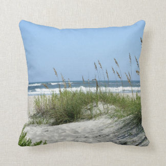 Beach at Ocracoke Reversible Throw Pillow