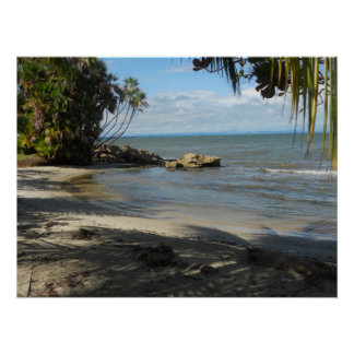 Beach at Playa Blanca, Livingston, Guatemala Poster