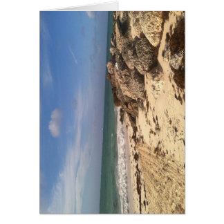 Beach at Port Lucaya, Freeport, Bahamas Card