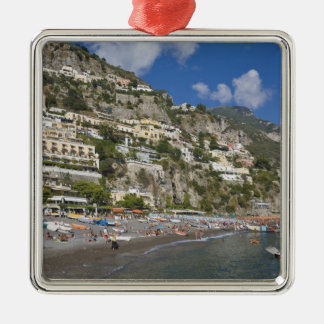 Beach at Positano, Campania, Italy Metal Ornament