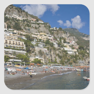 Beach at Positano, Campania, Italy Square Sticker