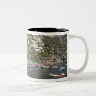 Beach at Positano, Campania, Italy Two-Tone Coffee Mug