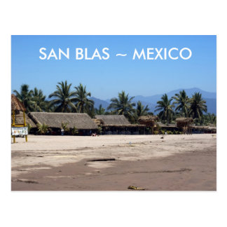 Beach at San Blas Mexico Postcard