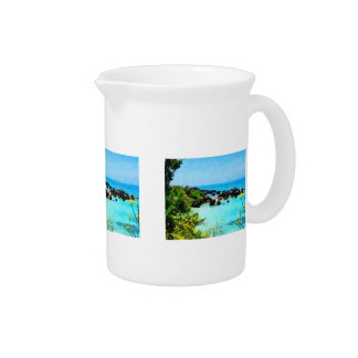 Beach at St. George Bermuda Beverage Pitcher