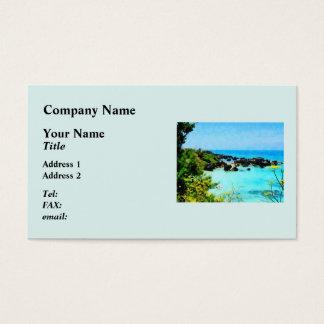Beach at St. George Bermuda Business Card