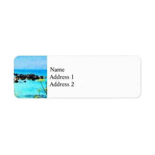 Beach at St. George Bermuda Label
