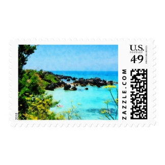Beach at St. George Bermuda Postage
