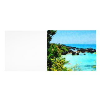 Beach at St. George Bermuda Rack Card