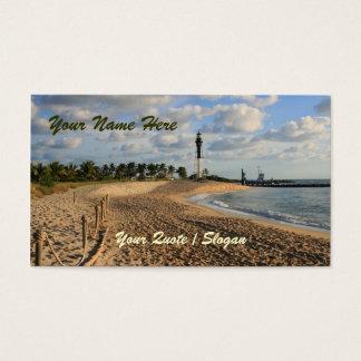 Beach at Sunrise Business Card