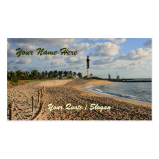 Beach at Sunrise Business Card Template