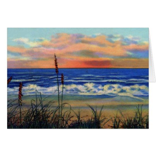 Beach at Sunrise Fort Pierce Florida Card