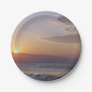Beach at Sunrise Paper Plate