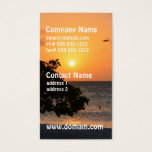 Beach at Sunset Business Card