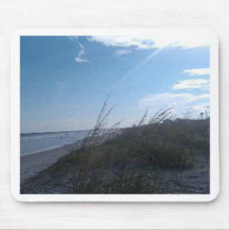 beach at sunset mouse pad