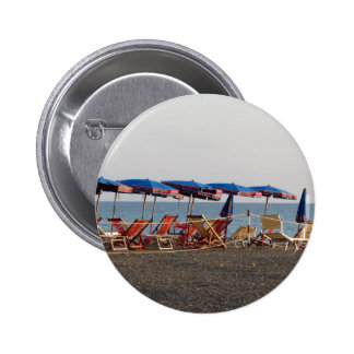 Beach at sunset pinback button