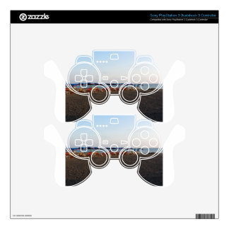 Beach at sunset skins for PS3 controllers