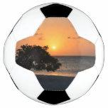 Beach at Sunset Soccer Ball