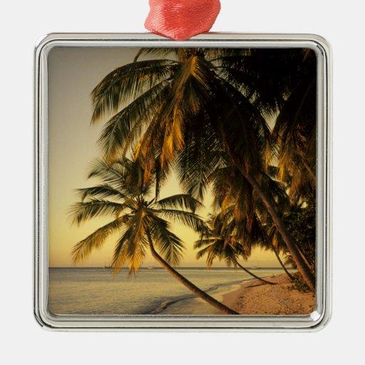 Beach at sunset, Trinidad Metal Ornament