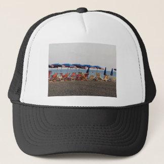 Beach at sunset trucker hat