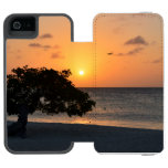 Beach at Sunset Wallet Case For iPhone SE/5/5s