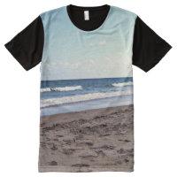 Beach At The Ocean All-Over-Print T-Shirt