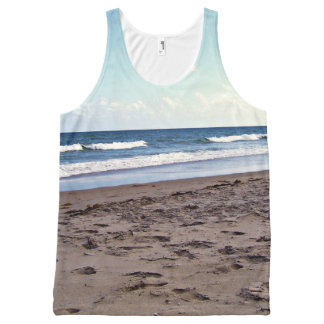 Beach at the Ocean All-Over-Print Tank Top