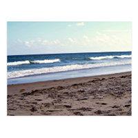 Beach At The Ocean Postcard