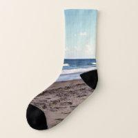 Beach At The Ocean Socks