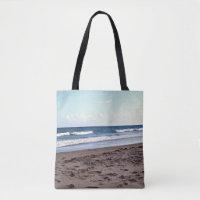 Beach At The Ocean Tote Bag